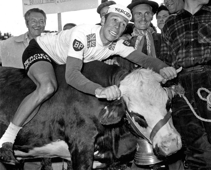 Image of Barry Hoban and Cow