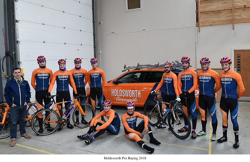 Image of Holdsworth pro racing team 2018