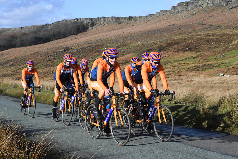 Image of Holdsworth Pro Racing team on Stanage
