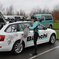Image of Bianchi Dama team car