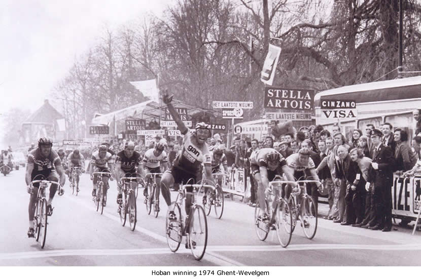 Image of Barry Hoban winning Ghent-Wevelgem