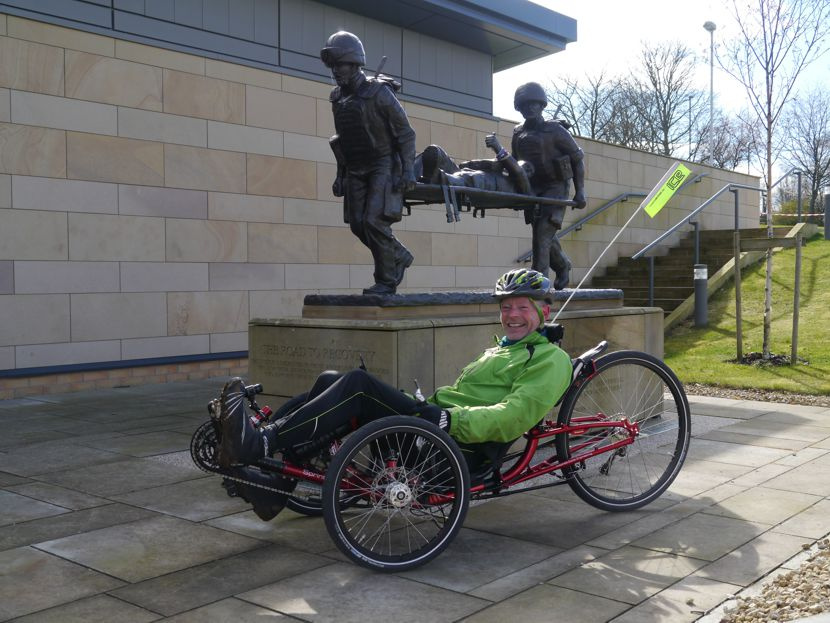 Jon Knott on his recumbent trike