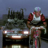 Image of Barry Hoban riding  in the rain