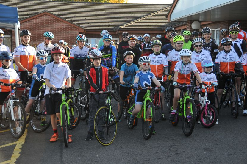 Riders ready for one of St Hugh's 'Ride with the Pros' events